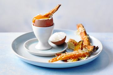 dippy eggs with sweet potato soldiers