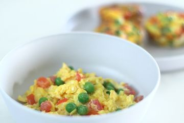 Scrambled egg with veg